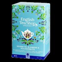 English Tea Shop - Weißer Tee, Blaubeere & Holunderblüte – BIO - 20 Beutel