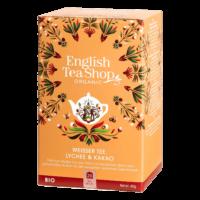 English Tea Shop - Weißer Tee Lychee & Kakao – BIO - 20 Beutel