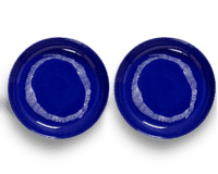 SERAX-OTTOLENGHI - OTTOLENGHI – FEAST Teller Hoher Rand – Lapis Lazuli + Swirl Stripes White - 2er SET ø 22 x H4 CM