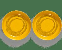 SERAX-OTTOLENGHI - OTTOLENGHI – FEAST Teller Hoher Rand – Sunny Yellow + Swirl Dots Black - 2er SET ø 22 x H4 CM