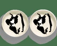 SERAX-OTTOLENGHI - OTTOLENGHI – FEAST Teller Hoher Rand – White + Pepper Black - 2er SET ø 22 x H4 CM