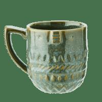 MADAM STOLTZ - Tasse mit Gesicht – Grün