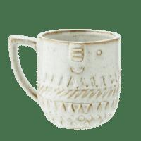 MADAM STOLTZ - Tassen mit Gesicht – Weiß