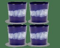 SERAX-OTTOLENGHI - OTTOLENGHI – FEAST Coffee Cups 25 cl – Lapis Lazuli + Swirl Stripes White - 4er Set ø 7.5 x H7.5 CM