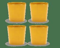 SERAX-OTTOLENGHI - OTTOLENGHI – FEAST Coffee Cups 25 cl FEAST – Sunny Yellow - 4er Set ø 7.5 x H7.5 CM
