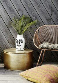 MADAM STOLTZ - Vase mit aufgemaltem Gesicht, groß