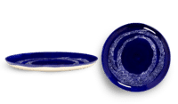 SERAX-OTTOLENGHI - OTTOLENGHI – FEAST Teller L – Lapis Lazuli + Swirl Dots White - 2er SET ø 26 x H2CM