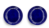 SERAX-OTTOLENGHI - OTTOLENGHI – FEAST Teller L – Lapis Lazuli + Swirl Stripes White - 2er SET ø 26 x H2CM