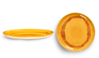 SERAX-OTTOLENGHI - OTTOLENGHI – FEAST Teller L – Sunny Yellow + Swirl Stripes Red - 2er SET ø 26 x H2CM