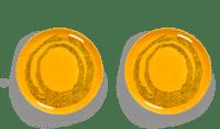 SERAX-OTTOLENGHI - OTTOLENGHI – FEAST Teller L – Sunny Yellow + Swirl Dots Black - 2er SET ø 26 x H2CM