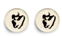 SERAX-OTTOLENGHI - OTTOLENGHI – FEAST Teller L – White + Pepper Black - 2er SET ø 26 x H2CM