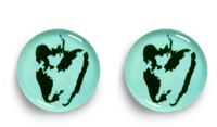 SERAX-OTTOLENGHI - OTTOLENGHI – FEAST Teller L – Azure + Pepper Green - 2er SET ø 26 x H2CM