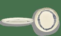 SERAX-OTTOLENGHI - OTTOLENGHI – FEAST Teller L – White + Swirl Stripes Blue - 2er SET ø 26 x H2CM