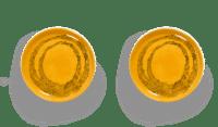 SERAX-OTTOLENGHI - OTTOLENGHI – FEAST Teller M – Sunny Yellow + Swirl Dots Black - 2er SET ø 22 x H2CM