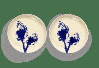 SERAX-OTTOLENGHI - OTTOLENGHI – FEAST Teller S – White + Artichoke Blue - 2er SET ø 19 x H2 CM