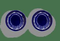 SERAX-OTTOLENGHI - OTTOLENGHI – FEAST Teller S – Lapis Lazuli + Swirl Dots White - 2er SET ø 19 x H2 CM