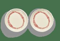 SERAX-OTTOLENGHI - OTTOLENGHI – FEAST Teller S – White + Swirl Stripes Red - 2er SET ø 19 x H2 CM