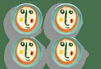 SERAX-OTTOLENGHI - OTTOLENGHI -FEAST  Teller XS – Face 2 - 4er SET ø16 x H2 CM