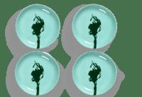SERAX-OTTOLENGHI - OTTOLENGHI – FEAST Teller XS – Azure + Artichoke Green - 4er SET ø16 x H2 CM