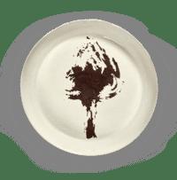 SERAX-OTTOLENGHI - OTTOLENGHI – FEAST Servierplatte L – White + Artichoke Black - Large - ø 44.5 x H9 CM