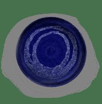 SERAX-OTTOLENGHI - OTTOLENGHI – FEAST Servierplatte M – Lapis Lazuli + Swirl Stripes White - Medium- ø 35 x H6 CM