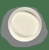 SERAX-OTTOLENGHI - OTTOLENGHI – FEAST Servierplatte M – White + Swirl Stripes Red - Medium- ø 35 x H6 CM