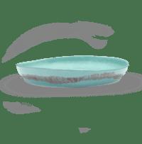 SERAX-OTTOLENGHI - OTTOLENGHI – FEAST Servierplatte M – Azur + Swirl Stripes Red - Medium- ø 35 x H6 CM