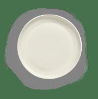 SERAX-OTTOLENGHI - OTTOLENGHI – FEAST Servierplatte Tief S – White + Swirl Stripes Blue - Small (Tief) - ø 34 x H4 CM