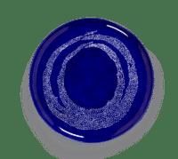 SERAX-OTTOLENGHI - OTTOLENGHI – FEAST Servierteller – Lapis Lazuli + Swirl Dots White - ø 35 x H2 CM