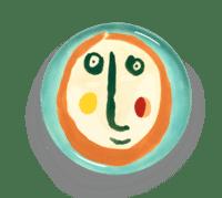 SERAX-OTTOLENGHI - OTTOLENGHI – FEAST Servierteller – Face 1 - ø 35 x H2 CM