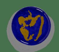 SERAX-OTTOLENGHI - OTTOLENGHI – FEAST Servierteller – Lapis Lazuli + Pepper Gold - ø 35 x H2 CM