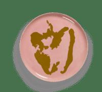 SERAX-OTTOLENGHI - OTTOLENGHI – FEAST Servierteller – Delicious Pink + Pepper Gold - ø 35 x H2 CM
