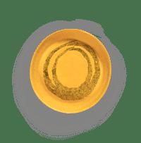 SERAX-OTTOLENGHI - OTTOLENGHI – FEAST Servierplatte S – Sunny Yellow + Swirl Dots Black - Small ø 30 x H6 CM