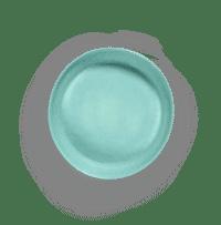SERAX-OTTOLENGHI - OTTOLENGHI – FEAST Servierplatte S – Azure + Swirl Stripes Red - Small ø 30 x H6 CM