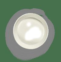 SERAX-OTTOLENGHI - OTTOLENGHI – FEAST Servierplatte S – White + Swirl Stripes Blue - Small ø 30 x H6 CM