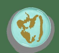 SERAX-OTTOLENGHI - OTTOLENGHI – FEAST Servierteller – Azure + Pepper Gold - ø 35 x H2 CM