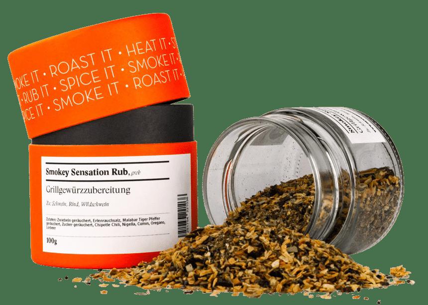 GEWÜRZMÜHLE ROSENHEIM - Smokey Sensation Rub – Grillgewürzzubereitung - grob gemahlen
