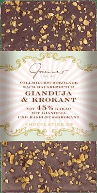 Gmeiner - Gmeiner Schokolade – Gianduja & Krokant - mit 45% Kakao
