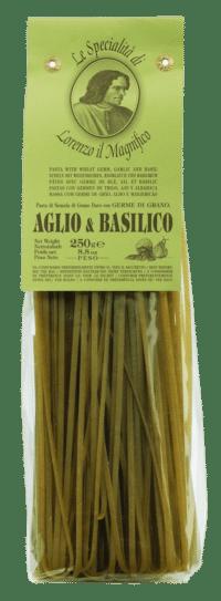 LORENZO IL MAGNIFICO - Linguine mit Knoblauch und Basilikum - Nudeln aus Hartweizengrieß mit Knoblauch und Basilikum
