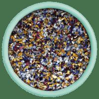 SAL DE IBIZA - Granito con flores - Meersalz mit Blüten im Streuer