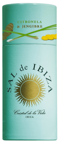 SAL DE IBIZA - Granito con citronela y jengibre - Meersalz mit Zitronengras und Ingwer im Streuer