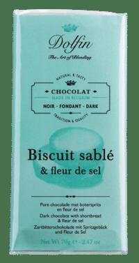 DOLFIN - Zartbitterschokolade mit Spritzgebäck und Salz