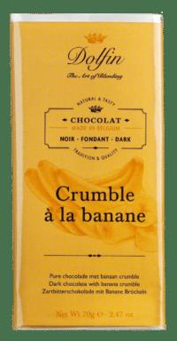 DOLFIN - Zartbitterschokolade mit Bananenstreusel