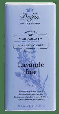 DOLFIN - Zartbitterschokolade mit Lavendel und Vanille