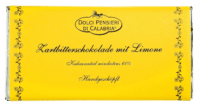 DOLCI PENSIERI - Zartbitterschokolade mit Zitrone - Handgeschöpfte Zartbitterschokolade mit Zitrone
