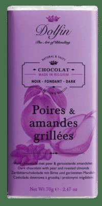 DOLFIN - Zartbitterschokolade mit Birne und gerösteten Mandeln
