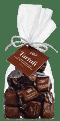 VIANI - Tartufi Dolci extra neri - Extradunkle Schokoladentrüffel mit Piemont Haselnüssen