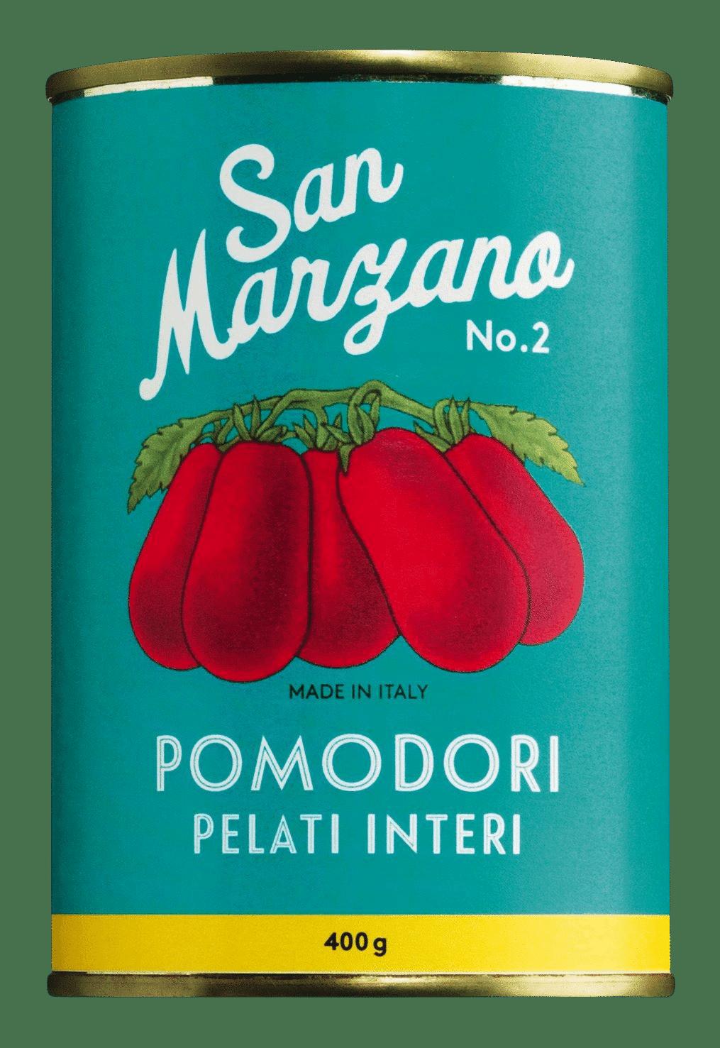 IL POMODORO PIÙ BUONO - Pomodori pelati di San Marzano - San Marzano Tomaten ganz und geschält