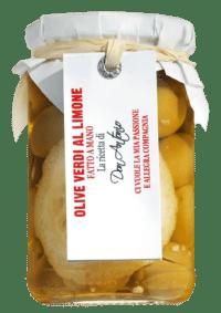 DON ANTONIO - Grüne Oliven mit Zitrone - Eingelegt in Öl, mit Stein