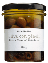 PRIMOPASTO - Oliven mit Pinienkernen - Leccino-Oliven